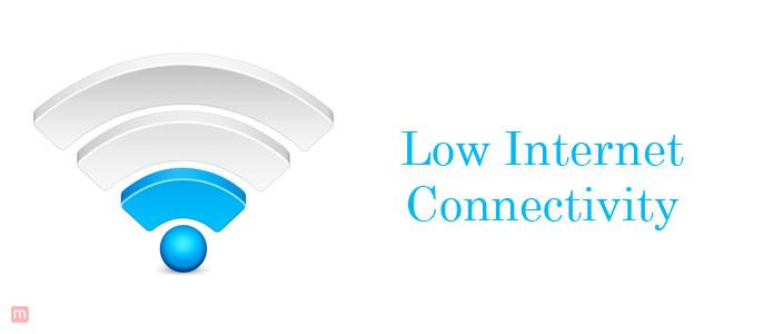 Low Internet Connectivity
