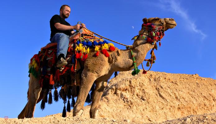 Take a camel ride