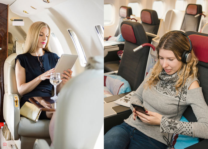 business class and first class